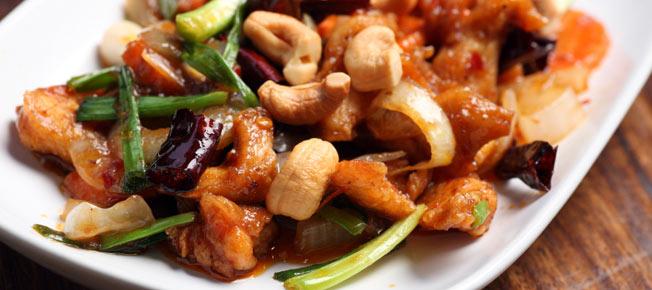 Kip cashew - hoofdgerecht Simply Thai restaurant